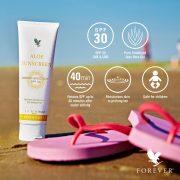 Aloe Sunscreen na opalovanie
